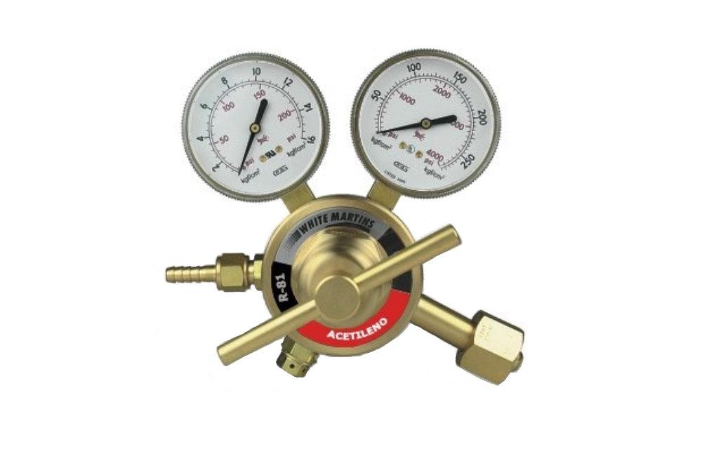 Regulador de Pressão Acetileno R81 AC PROSTAR - WHITE MARTINS