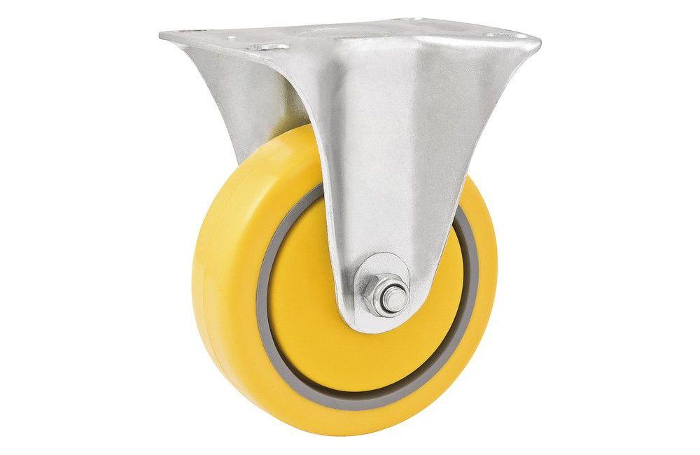 """Rodízio Fixo 4"""" de PU/PVC para 120 Kg - VONDER"""