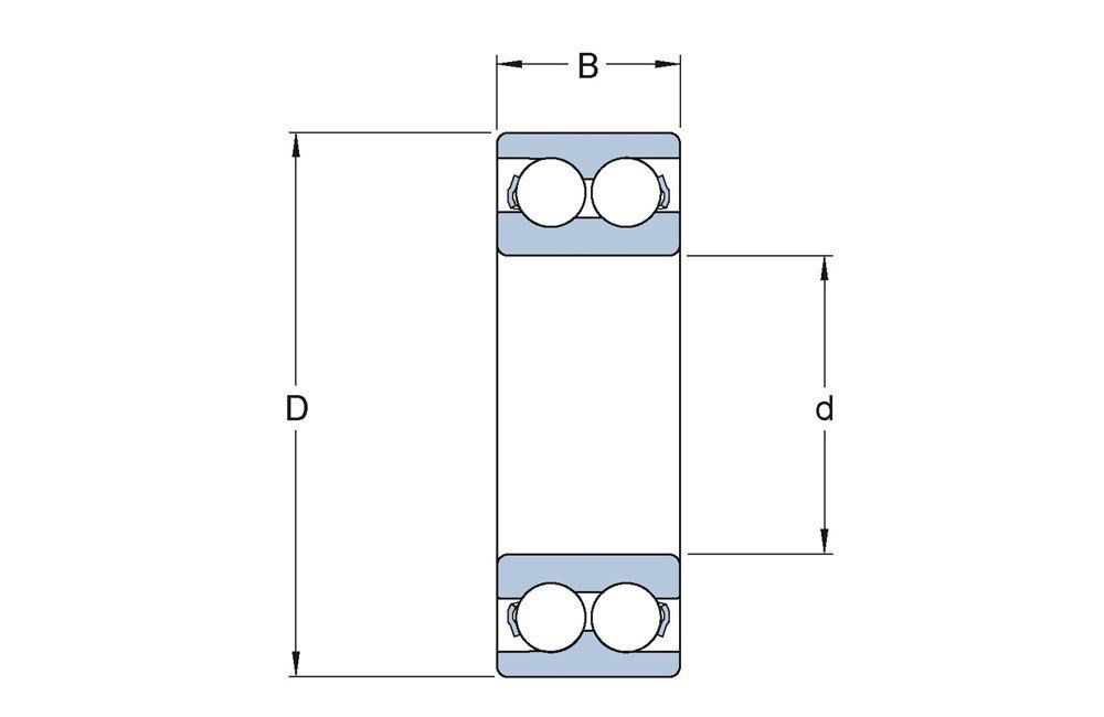 Rolamento de Esferas de Contato Angular 3209 A-2ZTN9/MT33 - SKF