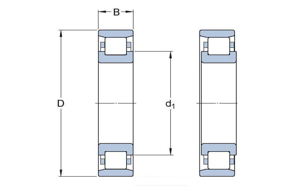 Rolamento de Rolos Cilíndricos NU 232 ECM/C3 - SKF