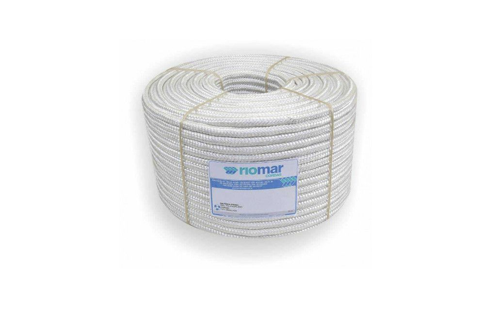 Rolo de Corda Branca em Polipropileno de 10mm x 110 metros até 905KGF - Riomar
