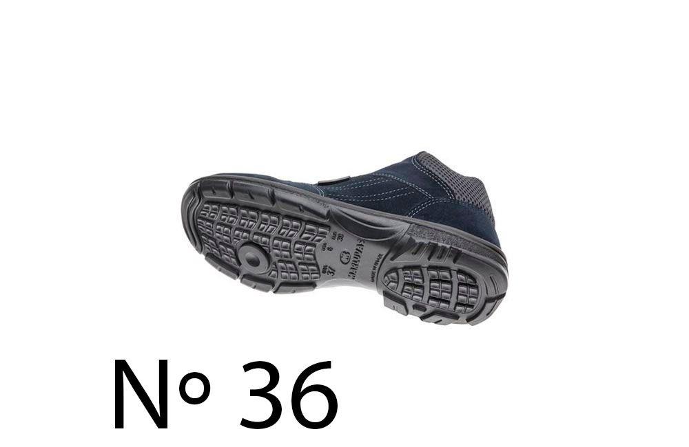 Sapato de Segurança de Camurça Azul N36 Marluvas 50F62