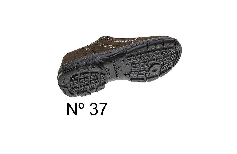 Sapato de Segurança de Camurça Marrom N37 Marluvas 50F60