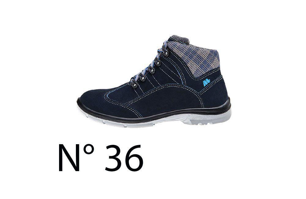 Sapato de Segurança Feminino Azul N36 50F62 Cano Alto - Marluvas