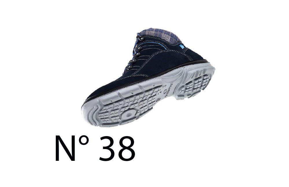 Sapato de Segurança Feminino Azul N38 50F62 Cano Alto - Marluvas