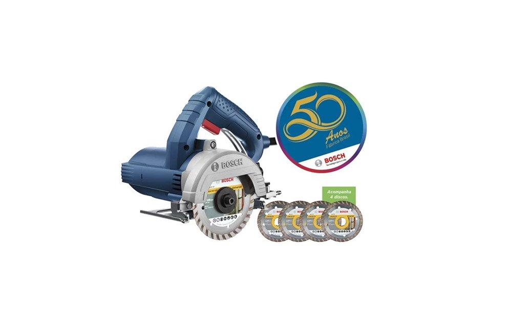 """Serra Mármore 4"""" 1450W GDC150 110V - Bosch"""