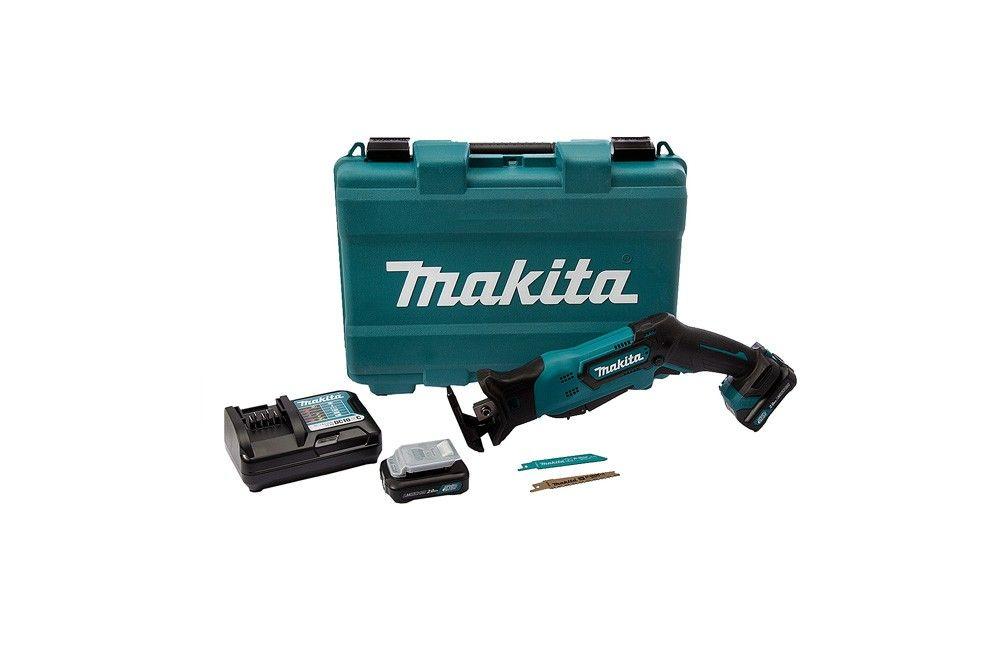 Serra Sabre à Bateria de 12V com Velocidade Variável JR105DSAE com 2 Baterias e Carregador Bivolt - Makita