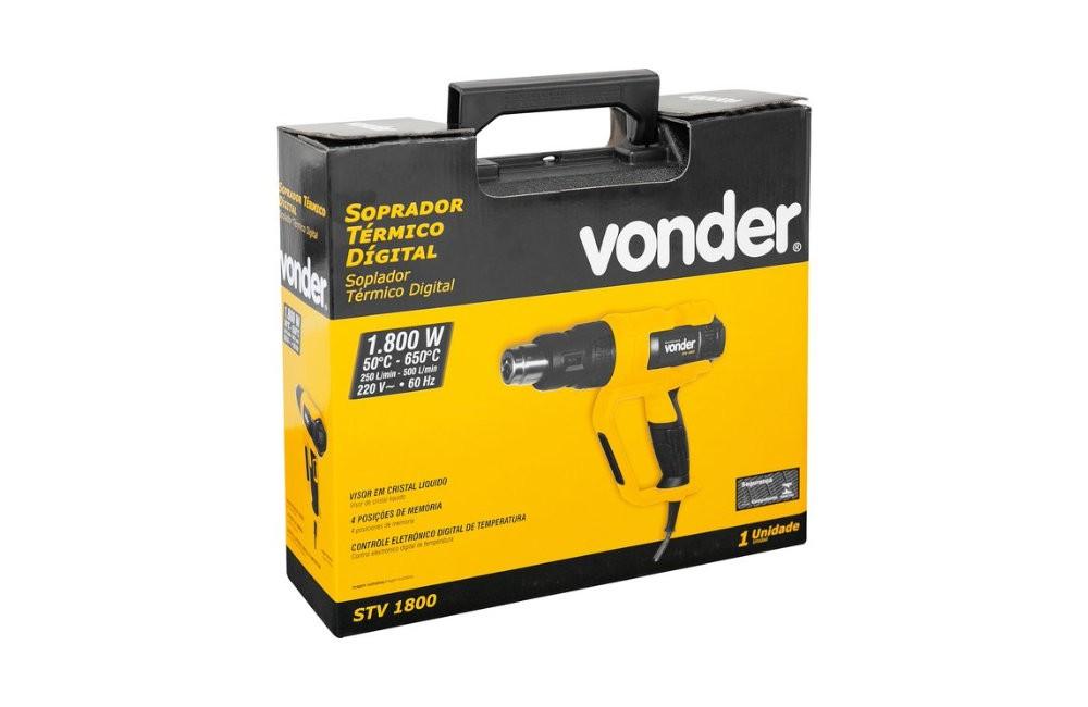Soprador Térmico Digital 50/650G STV1800 220V com Acessórios e Maleta - VONDER