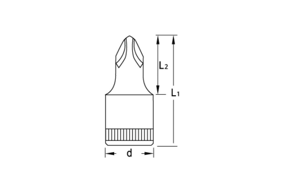 Soquete Phillips 1/4'' IKS 20 PH2 - GEDORE