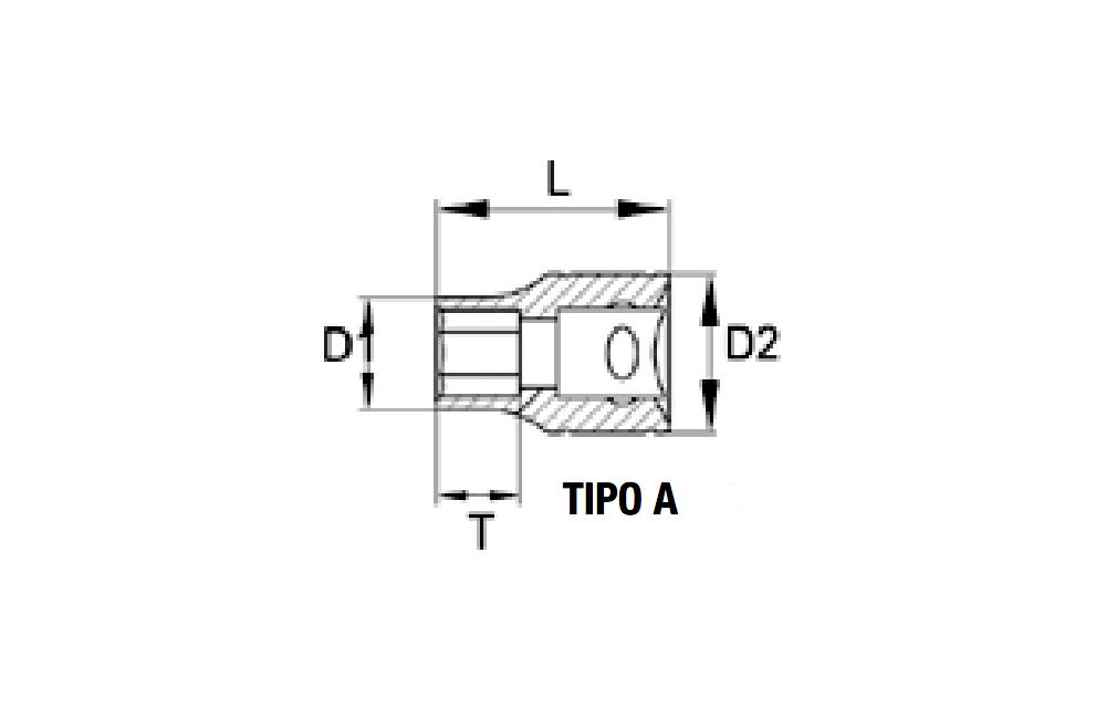 Soquete Sextavado 1/2'' x 12 mm 12000SM - BELZER
