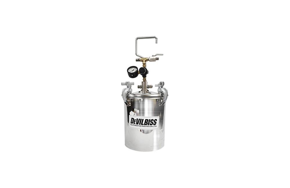 Tanque de Pressão em Inox para Pintura com Capacidade para 2 Galões PQNB-6002 - Devilbiss