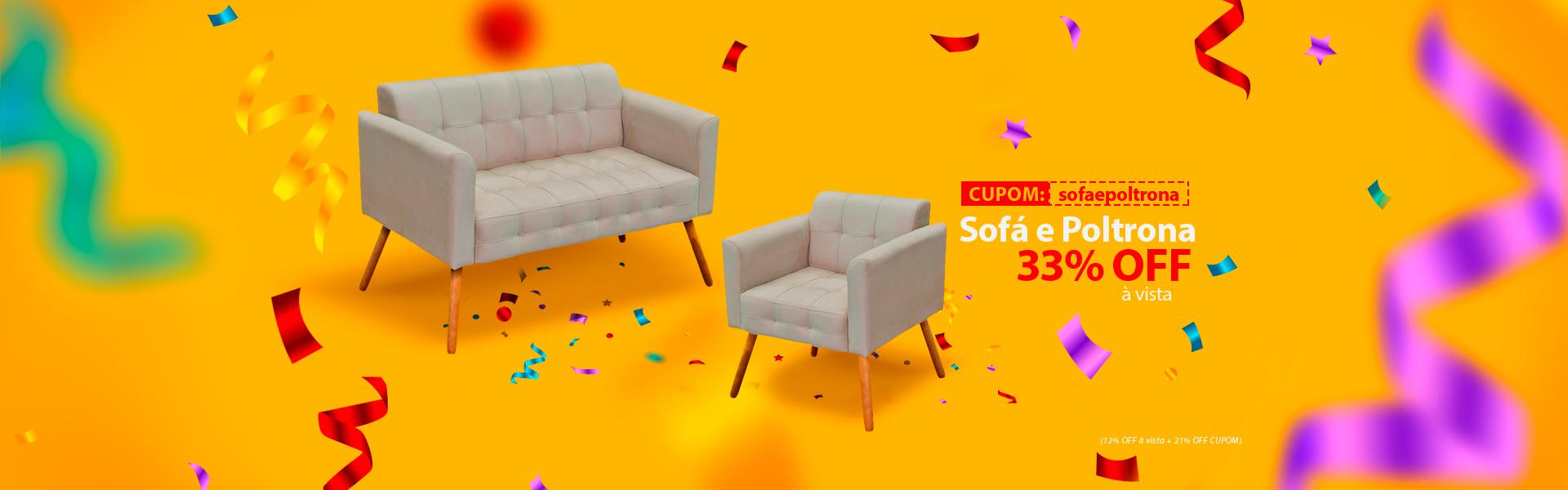 Sofa e Poltrona Elisa