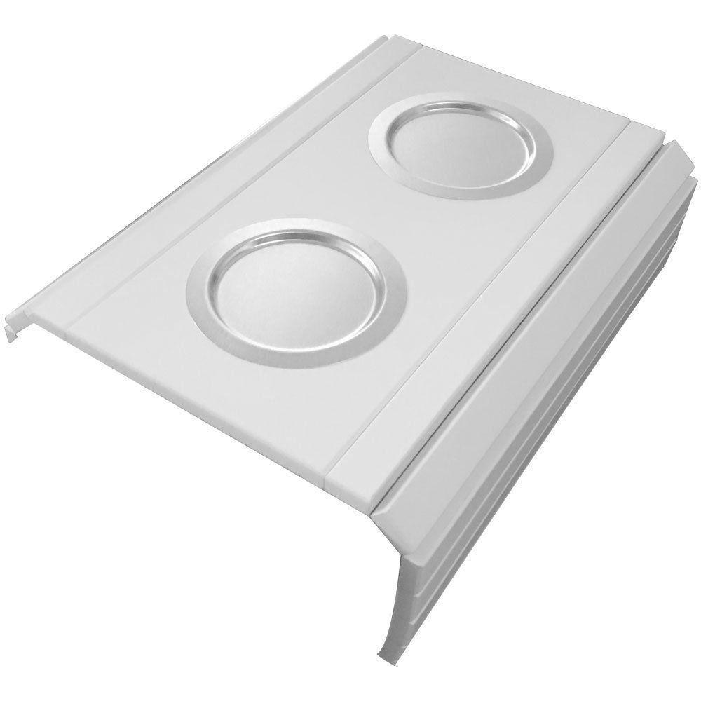 Bandeja Esteira para Braço de Sofá Porta Copo Alumínio Branco - D'Rossi