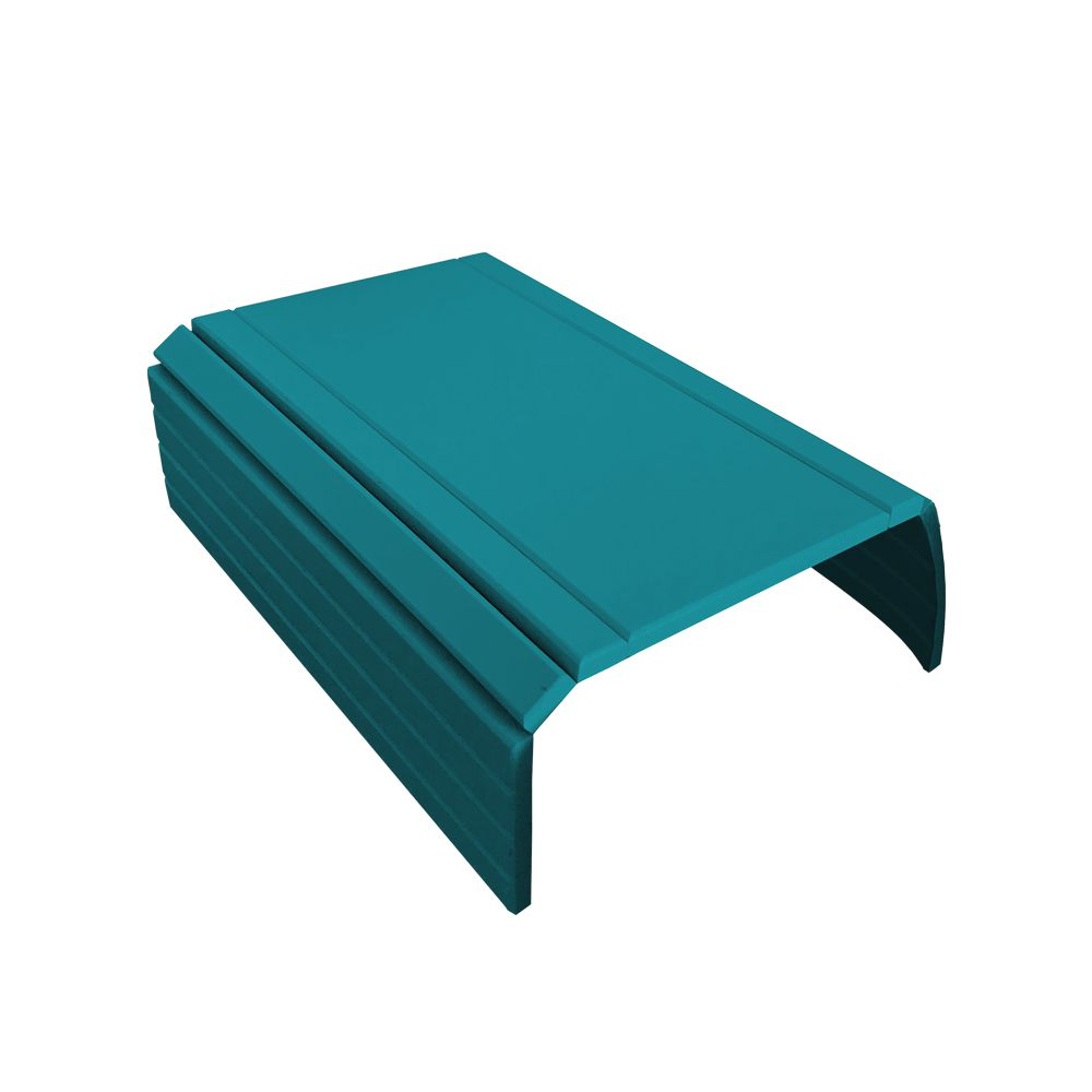 Bandeja Esteira para Braço de Sofá Porta Copo Reto Azul Turquesa - Drossi
