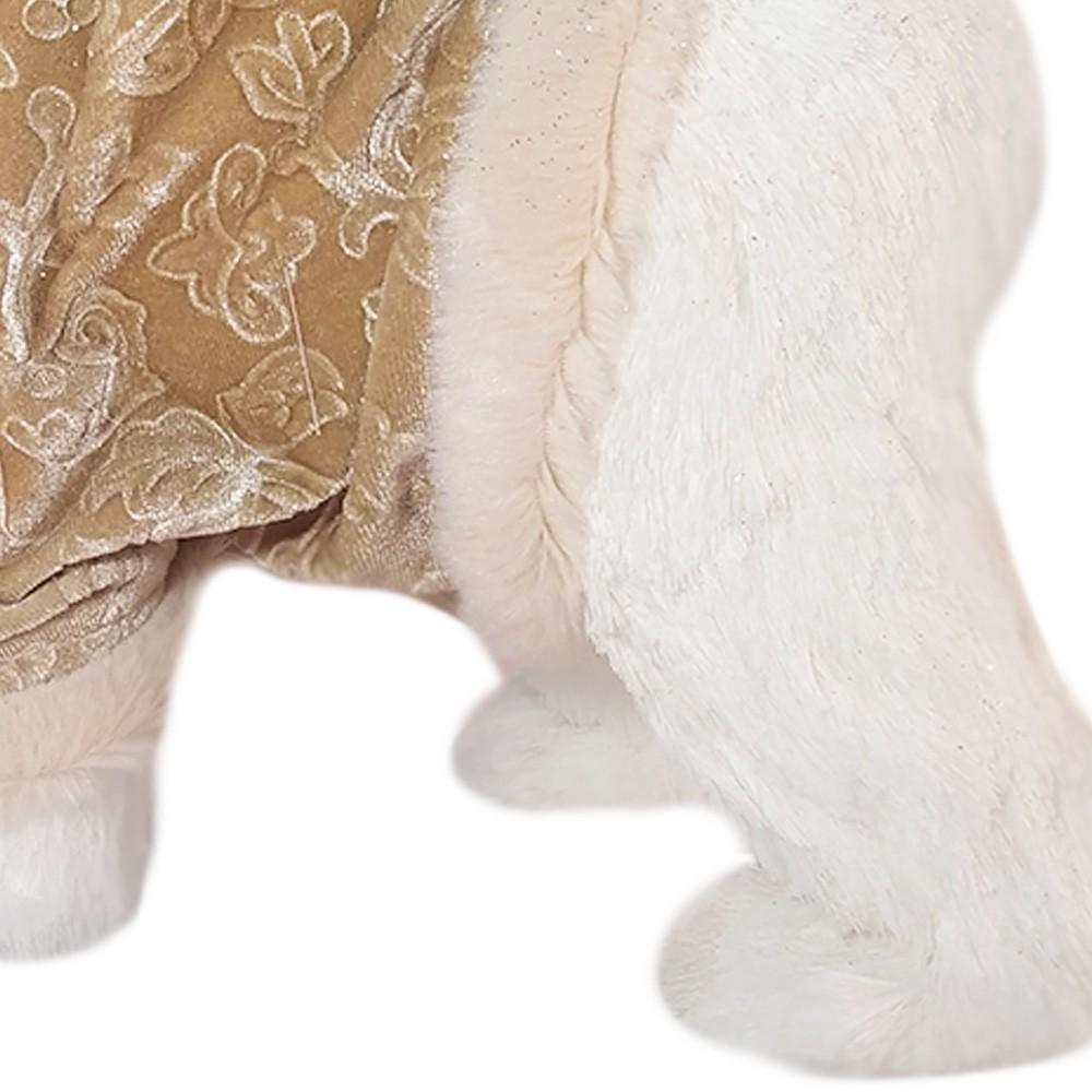 Boneco de Natal Urso Em Pé Cor Champanhe D'Rossi