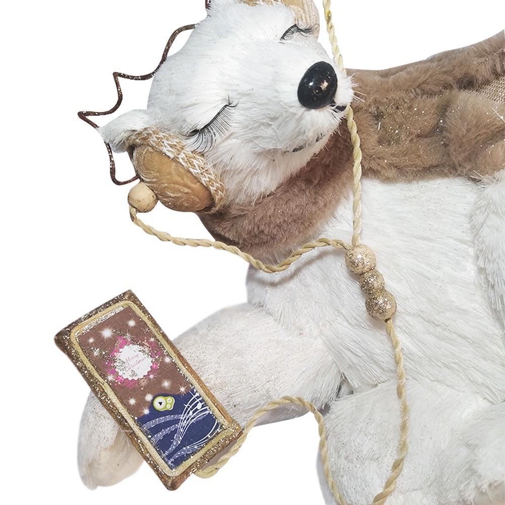 Boneco Natal Urso Fêmea Fashion 23 X 33,5 cm D'Rossi