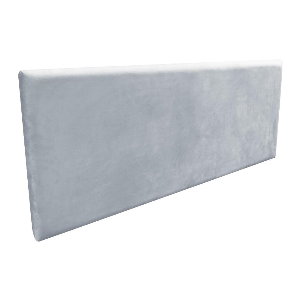 Cabeceira Painel Clean para Cama Box Casal 160 cm Suede Cinza D'Rossi