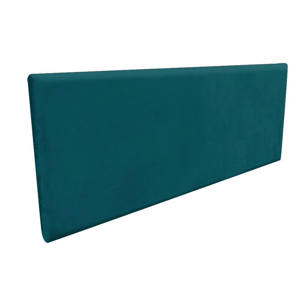 Cabeceira Painel Clean para Cama Box Casal 140 cm Suede Azul Pavão - D'Rossi