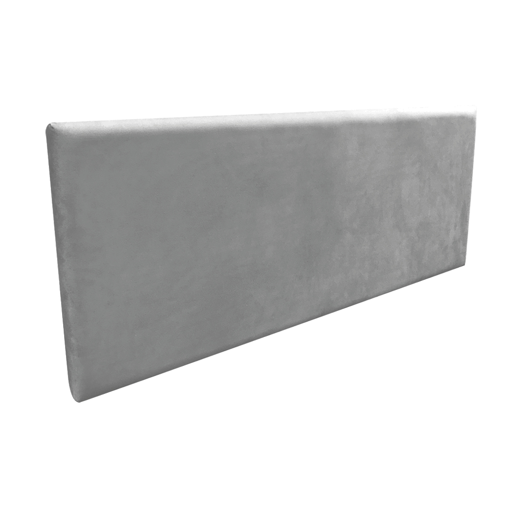 Cabeceira Painel Clean para Cama Box Casal 140 cm Suede Grafite - D'Rossi