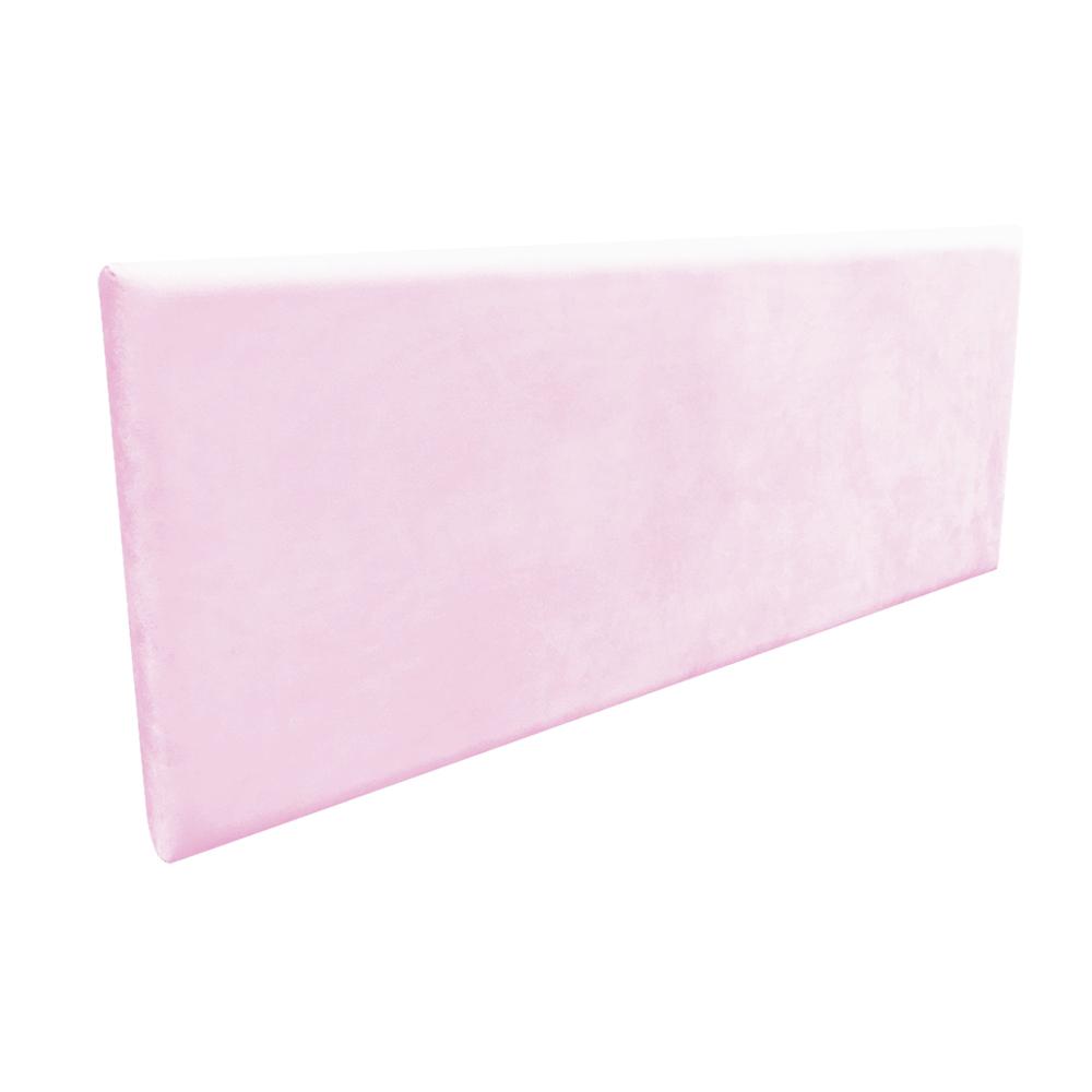 Cabeceira Painel Clean para Cama Box Casal 140 cm Suede Rosa Bebê - D'Rossi