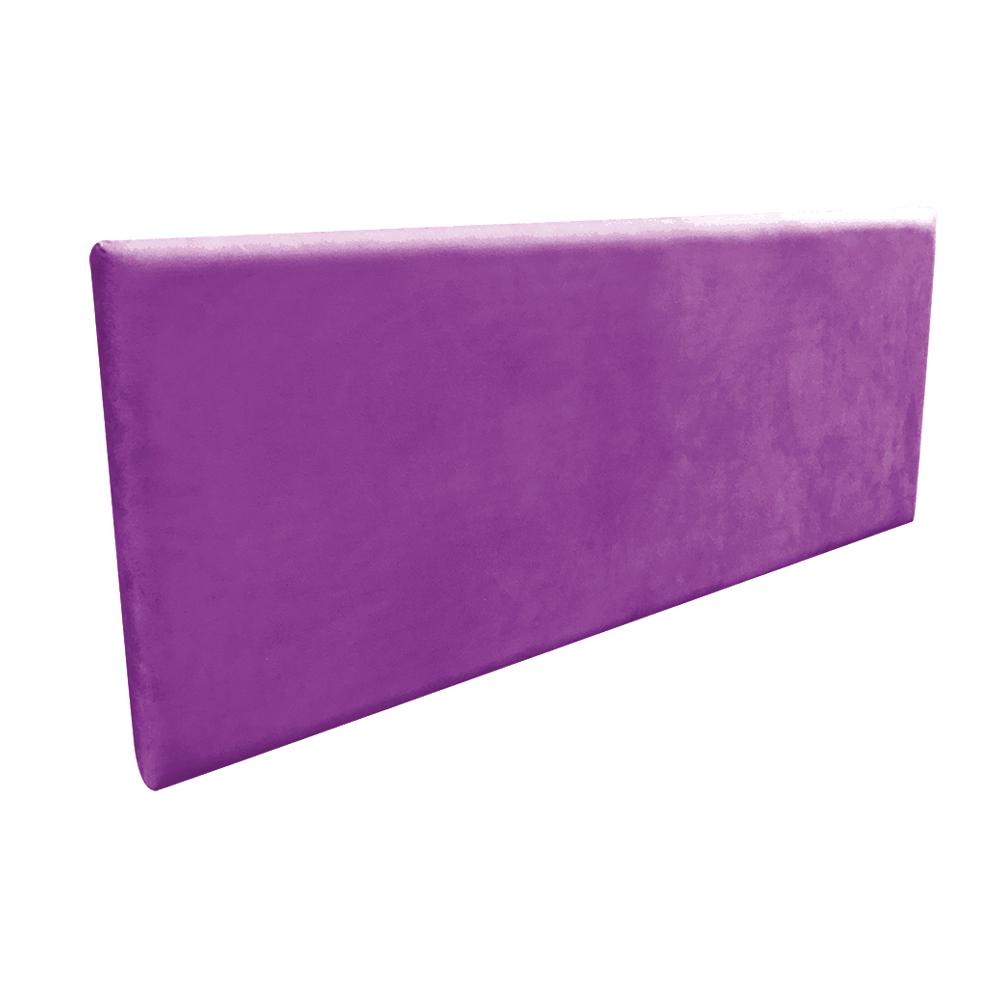 Cabeceira Painel Clean para Cama Box Casal 140 cm Suede Roxo - D'Rossi