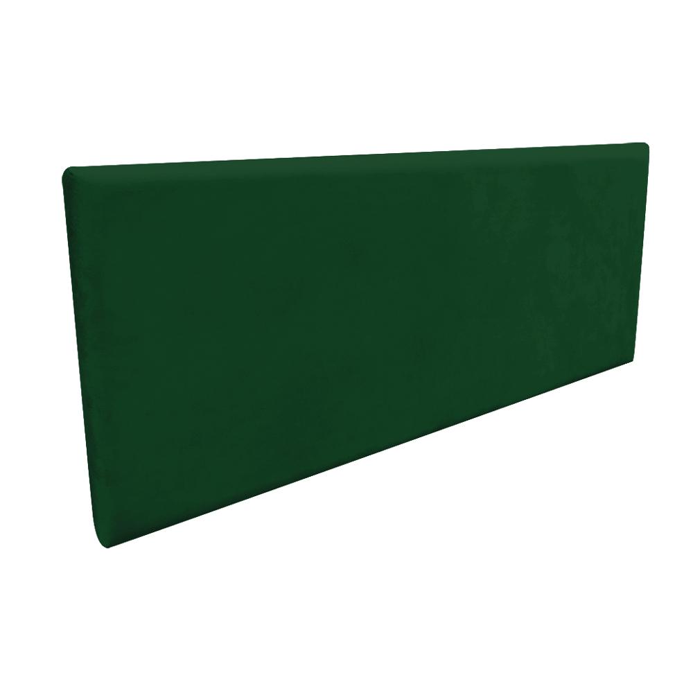 Cabeceira Painel Clean para Cama Box Casal 140 cm Suede Verde - D'Rossi