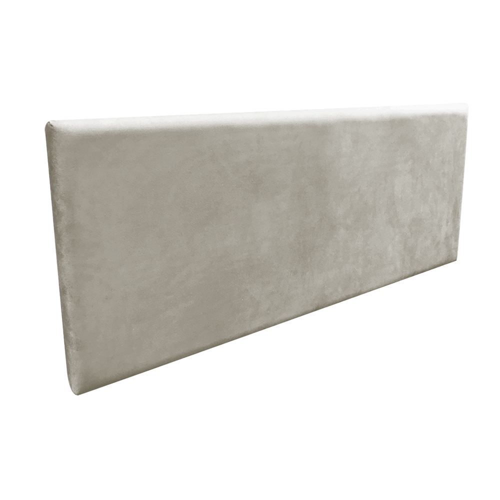 Cabeceira Painel Clean para Cama Box Casal 160 cm Suede Marrom Rato - D'Rossi