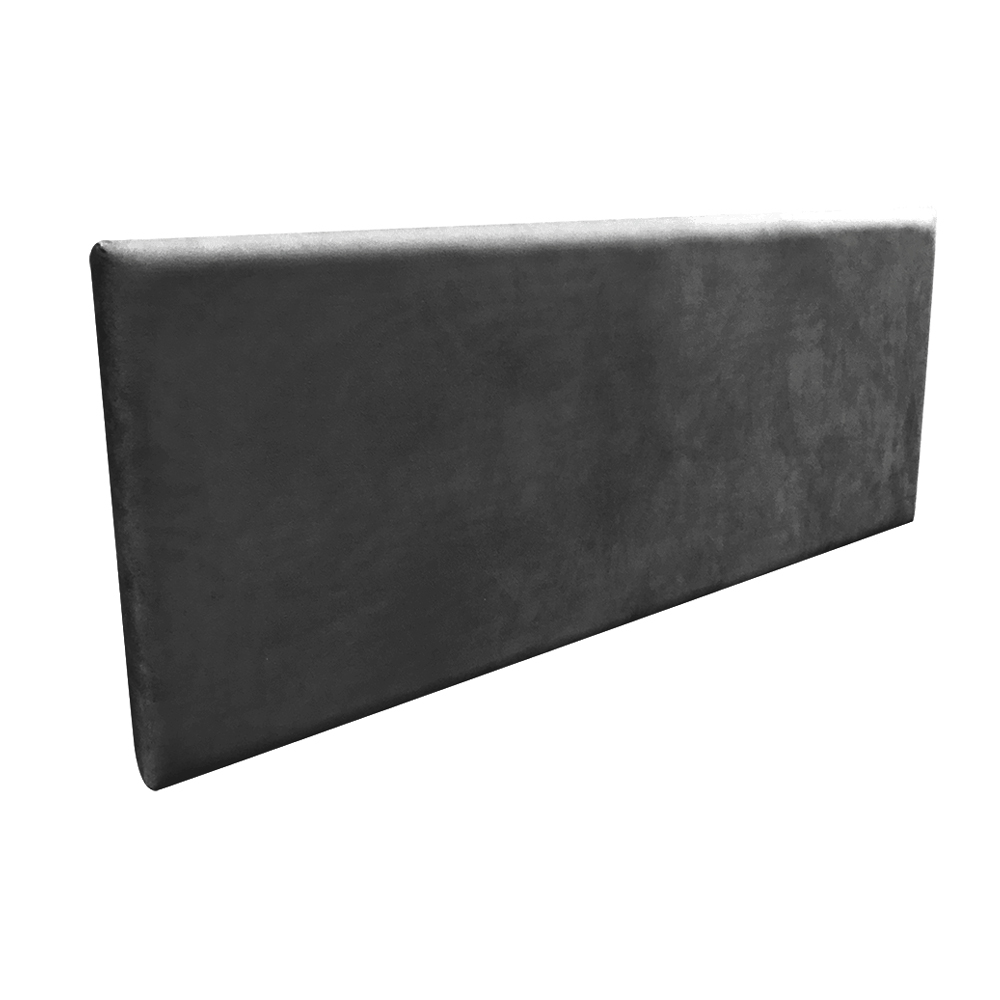 Cabeceira Painel Clean para Cama Box Casal 160 cm Suede Preto - D'Rossi