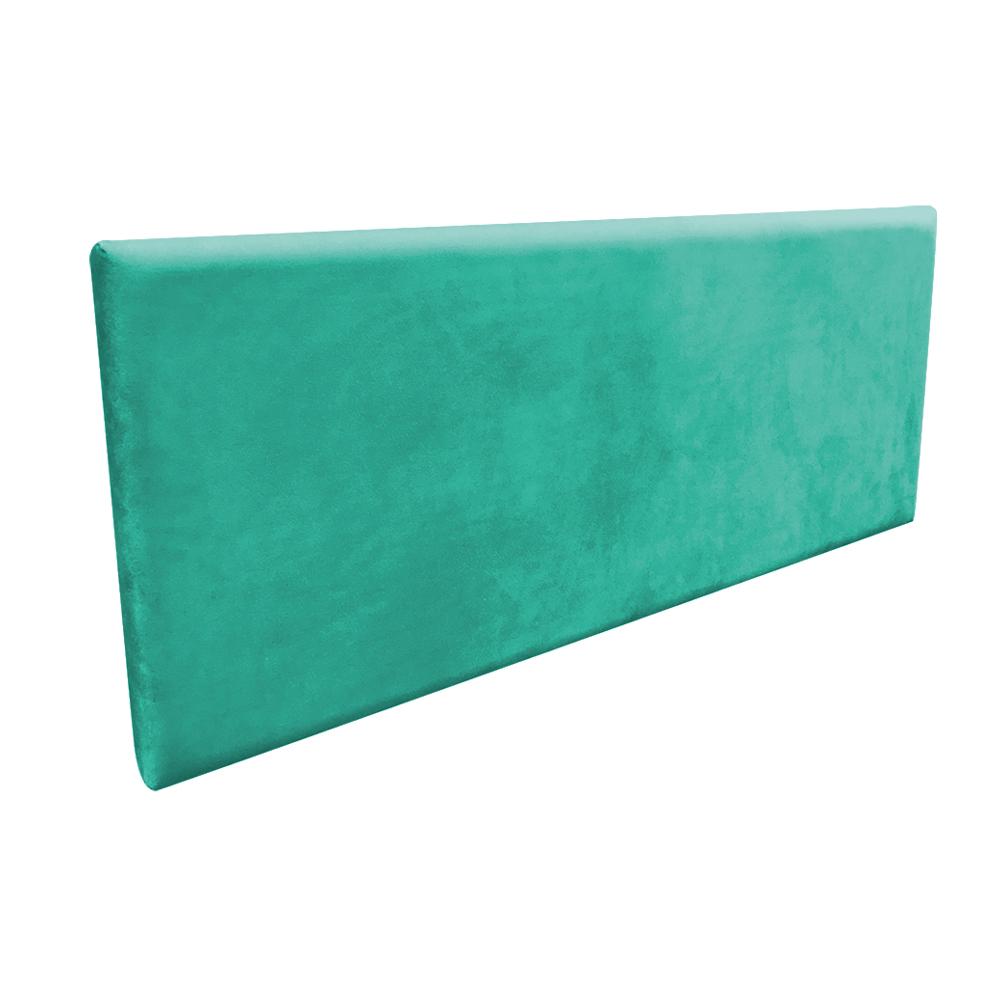 Cabeceira Painel Clean para Cama Box Casal 160 cm Suede Verde Turquesa - D'Rossi