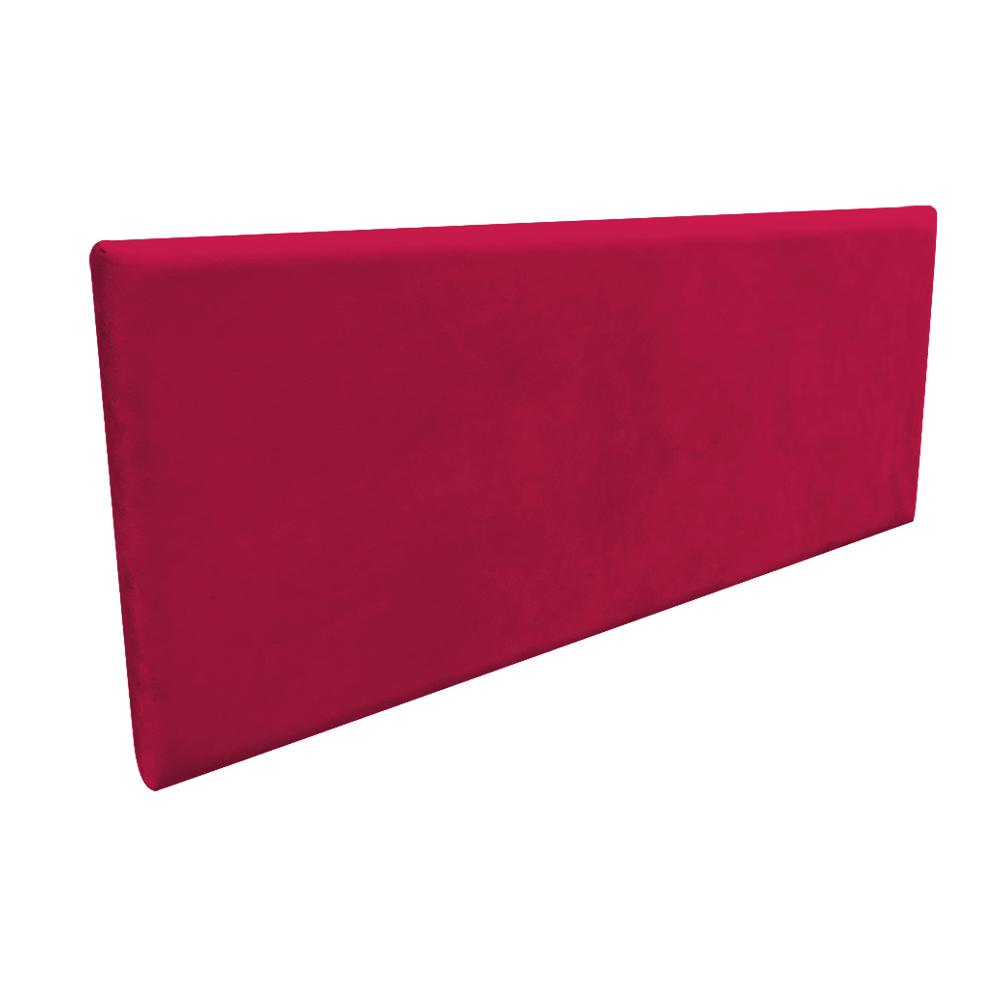 Cabeceira Painel Clean para Cama Box Casal 160 cm Suede Vermelho - D'Rossi