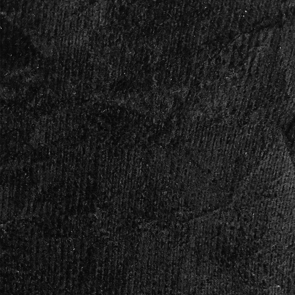 Cabeceira Painel Cristal para Cama Box Casal 2,50 m Suede Preto 1302 - D'Rossi