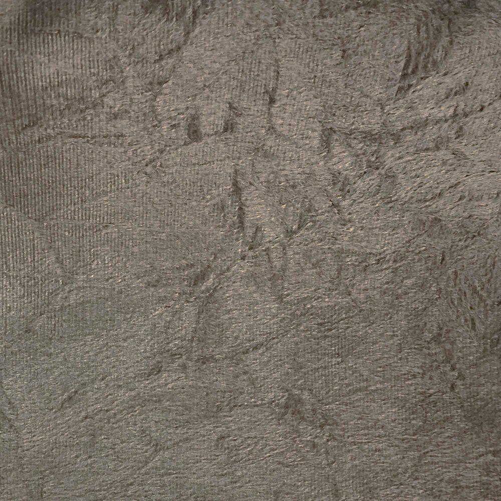 Cabeceira Painel Cristal para Cama Box Solteiro 90 cm Suede Marrom Rato - D'Rossi