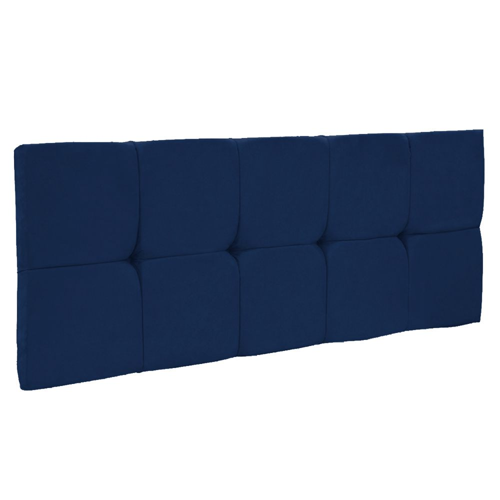 Cabeceira Painel Nina para Cama Box Casal 140 cm Suede Azul Marinho D'Rossi