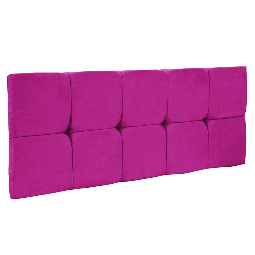 Cabeceira Painel Nina para Cama Box Casal 140 cm Suede Pink D'Rossi