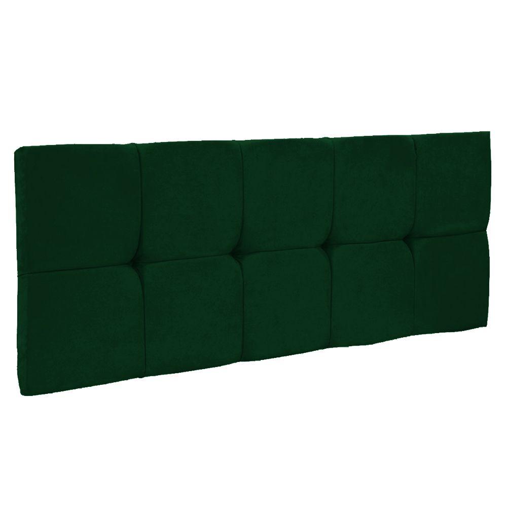 Cabeceira Painel Nina para Cama Box Casal 160 cm Suede Verde D'Rossi