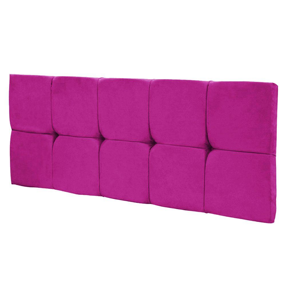 Cabeceira Painel Nina para Cama Box Solteiro 90 cm Suede Pink D'Rossi
