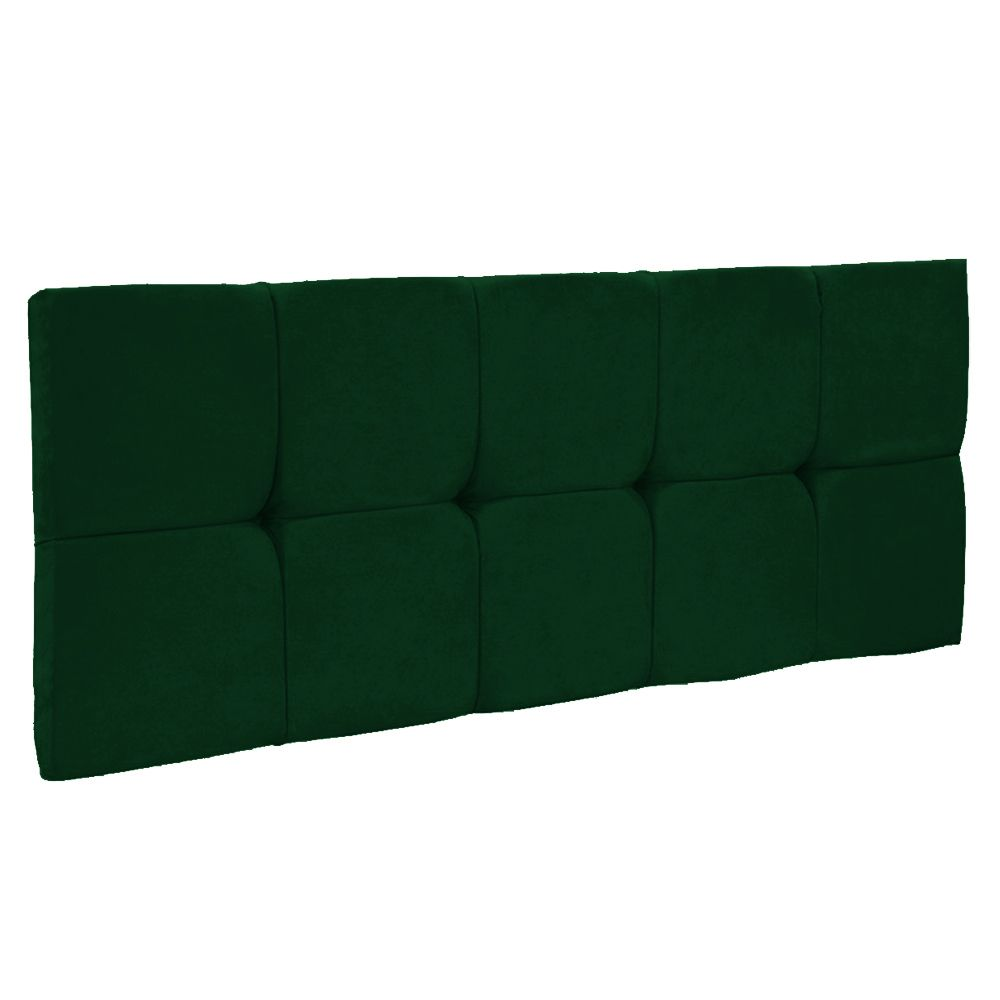 Cabeceira Painel Nina para Cama Box Solteiro 90 cm Suede Verde D'Rossi