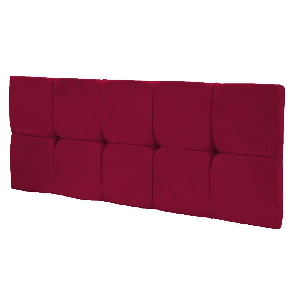 Cabeceira Painel Nina para Cama Box Solteiro 90 cm Suede Vermelho D'Rossi