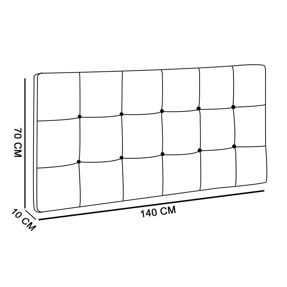 Cabeceira Painel Sleep para Cama Box Casal 1,40 m Suede Castor 1404 - D'Rossi