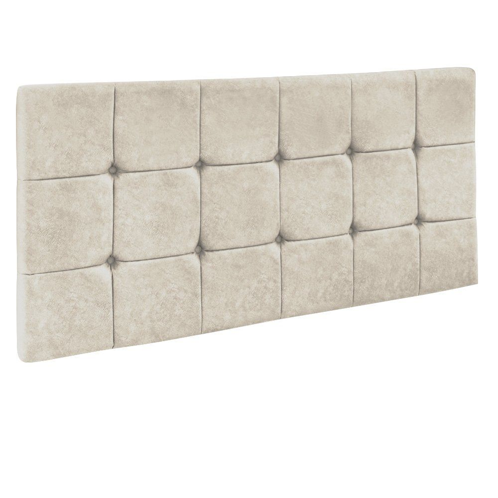 Cabeceira Painel Sleep para Cama Box Casal 1,60 m Suede Bege - D'Rossi