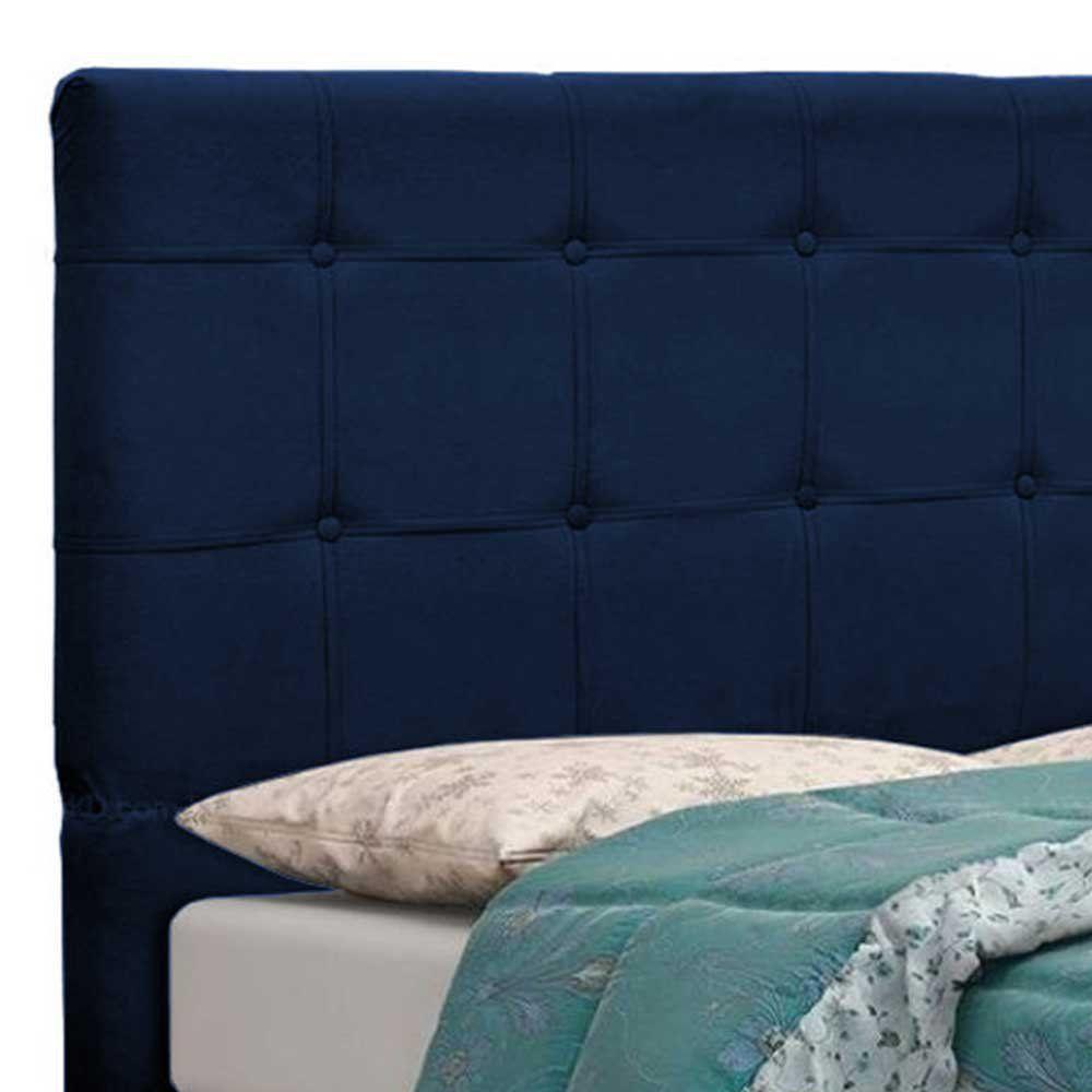 Cabeceira Tóquio para Cama Box King 195 cm Suede Azul Marinho D'Rossi