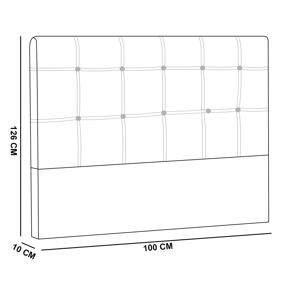 Cabeceira Tóquio para Cama Box Solteiro 100 cm Suede Preto D'Rossi