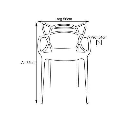 Cadeira Allegra Sala de Jantar Azul - D'Rossi