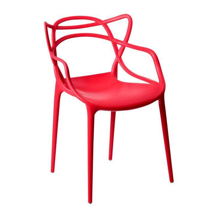 Cadeira Allegra Sala de Jantar Vermelho - D'Rossi