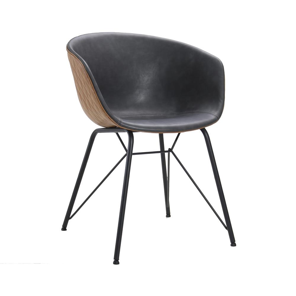 Cadeira Astrid Caramelo com Cinza D'Rossi