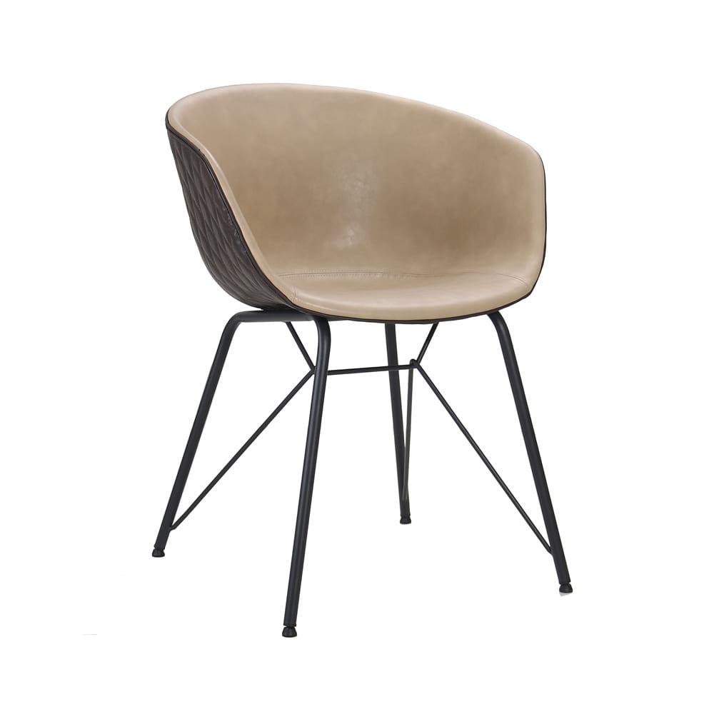 Cadeira Astrid Chocolate com Nude D'Rossi