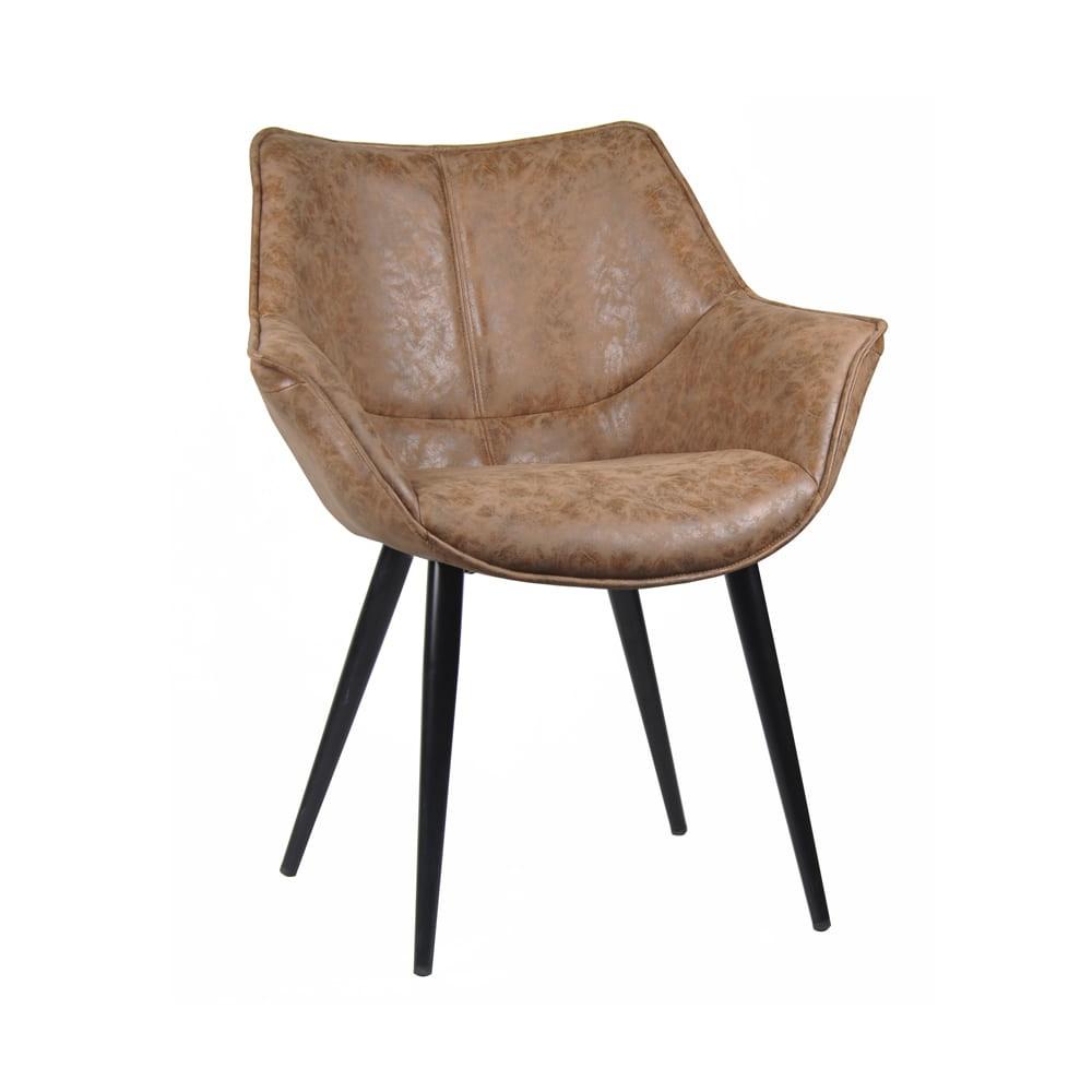Cadeira Cecília Marrom Vintage Pés Palito D'Rossi