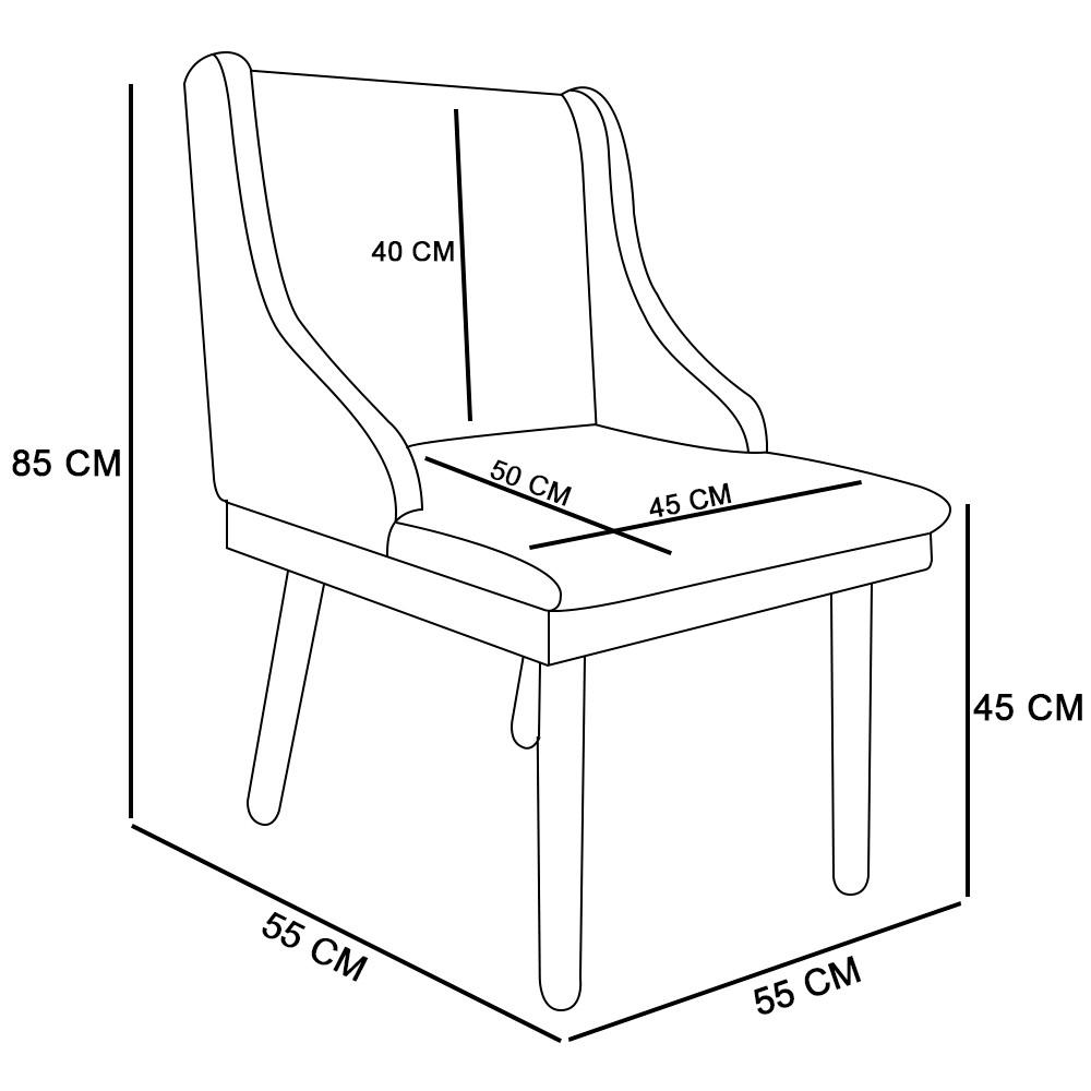 Cadeira de Jantar Liz Estampado Zig Zag Vermelho D79 Pés Castanho Pés Palito Castanho D'Rossi