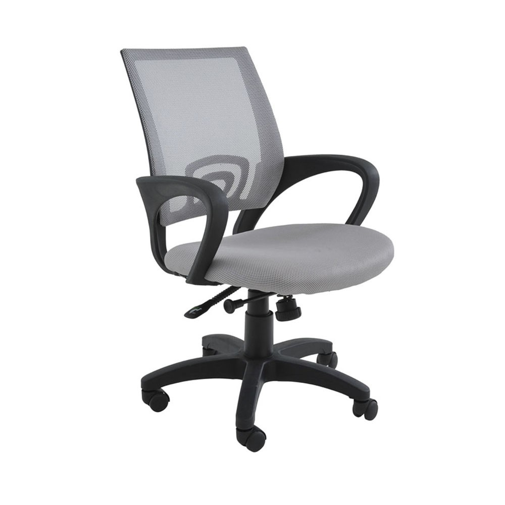 Cadeira Giratória Office Santiago Cinza D'Rossi