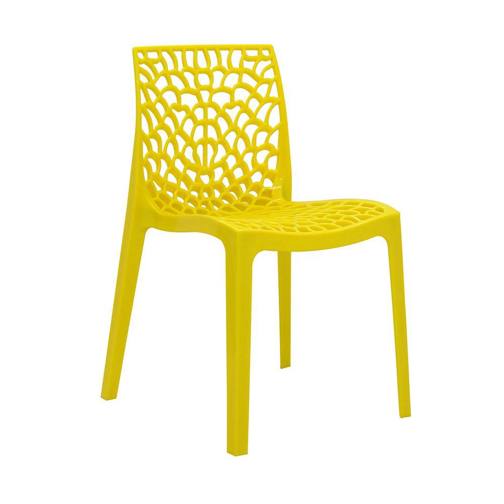 Cadeira Gruvyer Sala de Jantar Amarela - D'Rossi